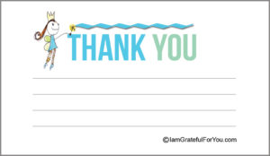 Back design of I am grateful for you cards